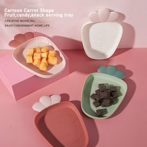 Cartoon Carrot Shape Fruit Food, Candy, Snack Tray