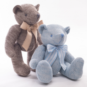Hand-Knitted Cotton Teddy Bear Toy