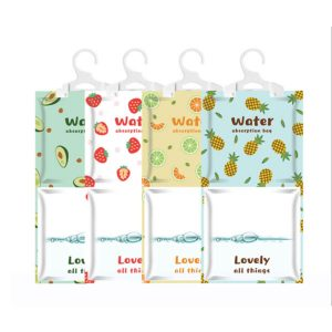 5pcs Interior Dehumidifier Bags Hanging Hygroscopic Anti-mold Deodorizing Moistureproof Desiccant Bag