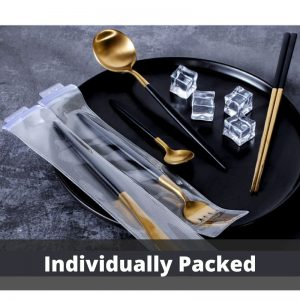 Cutlery Set for 1 Person – Knife, Fork, Soup & Coffee Spoon