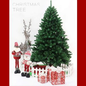 6ft / 1.8m Artificial Christmas Tree with 670 Virgin PVC Tips and Metal Stand