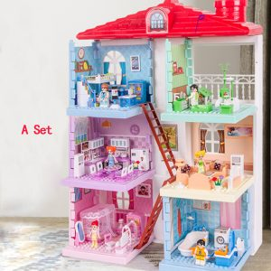 Amazing Dolls House with Furniture and Accessories Included with Lights