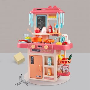 Miniature Kitchen Play Set with 42 Accessories(Pink)