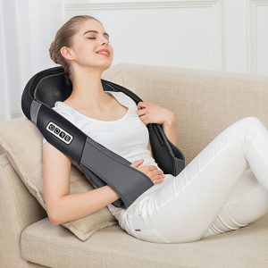 Wireless Neck Shoulder Massager with Heat and Deep Tissue Kneading Massage