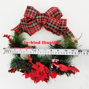 Big Bow with birds Door Decoration Christmas Wreath 11.8 Inch