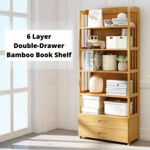 Multi-function Book Shelf Bamboo & Plywood 50cm/70cm