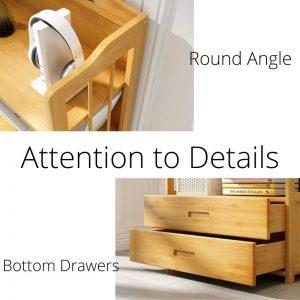 Multi-function Book Shelf Bamboo & Plywood 50cm/70cm
