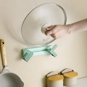 Adjustable Pot Lid & Chopping Board Holder No-Drill Design
