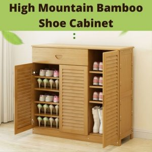 Bamboo Shoe Cabinet