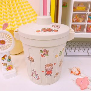 Desk storage bucket with lid, Pen holder