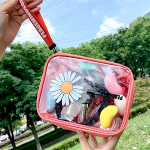 Daisy Clear Cosmetic Makeup Bag