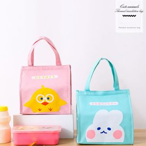 Cute AluminiumThermal Portable Insulated Lunch Bag