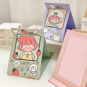 Strawberry Girl Folding Simple Make-up Desk Mirror