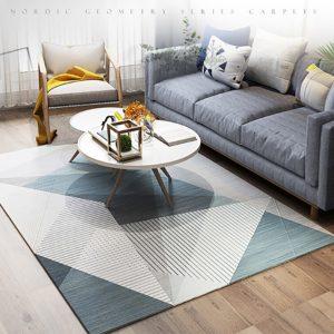 Modern Nordic Style Geometric Pattern Mat Carpet Rug 80*160cm