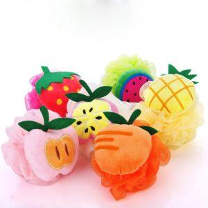 Lovely Fruit Shape Bath Ball Bathroom Bath Sponge