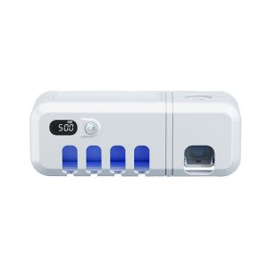UV Smart Toothbrush Holder Rechargeable Wall Mounted Toothpaste Dispenser with Sterilizer Function