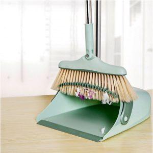 3 Layers Long Handled Broom and Dust Pan Set