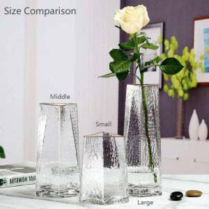 Triangle Top Glass Flower Vase Short/Long