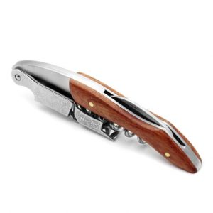 Corkscrew Wine Opener Solid Wood with Engraved Patterns