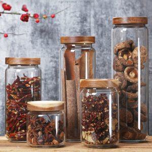 Glass Storage Jars with Lids