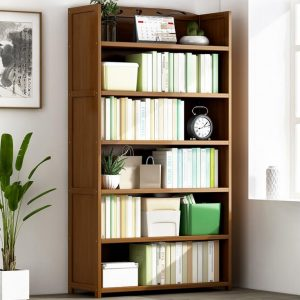 Multi-function Bamboo Book Shelf in Tawny Colour 50/70cm