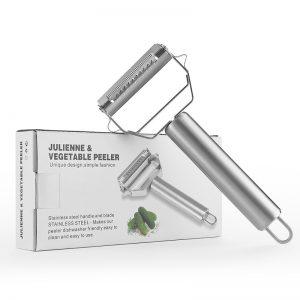 2 in 1 Stainless Steel Julienne & Vegetable Peeler