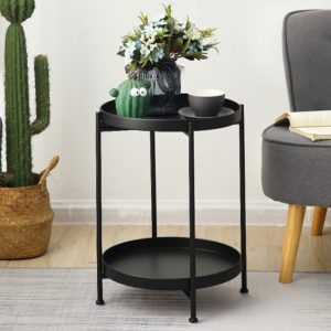 Nordic Iron Two Layers Side Table