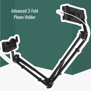 Advanced Stainless Steel Phone Holder Strong Grip 3 Fold Design