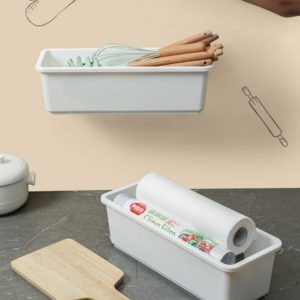 Wall-mounted Drawable Plastic Storage Box (1 Pack)