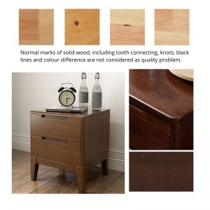 Solid Oak Wood Bedside Cabinet No Assemble Required
