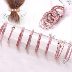 A set of 8pcs Korean Simple Hair Tie